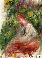 Young Woman, Seated, renoir