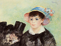 Young Woman in a Straw Hat, 1877, renoir