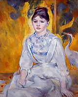 Young Woman with Crane, 1886, renoir