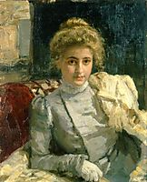 The Blond (Portrait of Tevashova) , 1898, repin