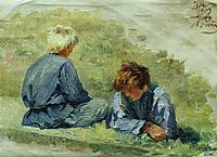The boys on the grass, 1903, repin