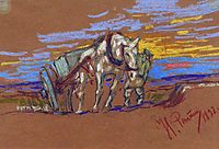 Carrying Horse  , 1892, repin