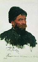 Cossack-s head, repin