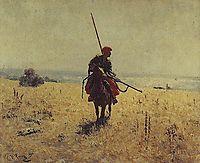 Cossack in the steppe, repin