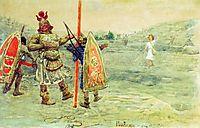 David and Goliath, 1915, repin