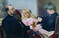 The Delarov Family Portrait , 1906, repin