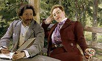 Double Portrait of Natalia Nordmann and Ilya-Repin, 1903, repin