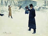 Duel between Onegin and Lenski, 1899, repin