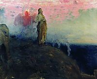Follow me, Satan (Temptation of Jesus Christ), 1903, repin