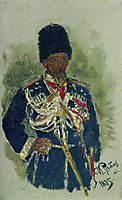 General in the form of royal guards. P.A. Cherevin., 1885, repin