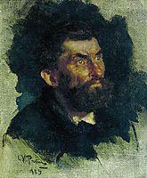 Head of a Man, 1885, repin