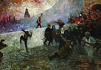 In the besieged Moscow in 1812, 1912, repin