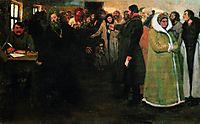 In the township board, 1877, repin
