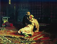 Ivan the Terrible and His Son Ivan on November 16, 1581, 1885, repin