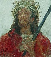 Jesus in a crown of thorns, 1913, repin