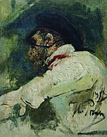 A man in white jacket, 1913, repin
