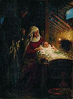 Nativity, 1890, repin