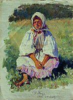Peasant Girl, 1880, repin