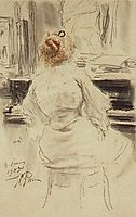 The piano, 1905, repin