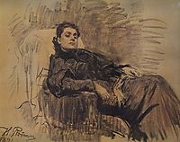 Portrait of actress Eleonora Duse, 1891, repin
