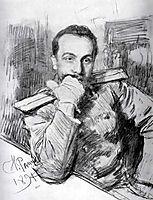 Portrait of Aleksandr Zhirkevich, 1891, repin