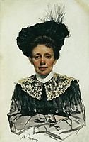 Portrait of an Unknown Woman, repin