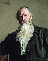 Portrait of the Art Critic Vladimir Stasov, 1883, repin