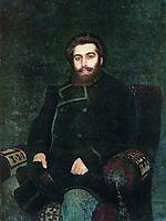 Portrait of the Artist Arkhip Kuindzhi, 1877, repin