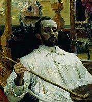 Portrait of the Artist D.N. Kardovskiy, 1897, repin