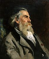 Portrait of the Artist A. P. Bogolubov, 1882, repin