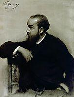 Portrait of the artist R. S. Levitsky, 1878, repin