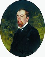 Portrait of the Artist Vasily Polenov, 1877, repin
