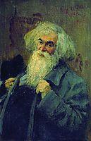 Portrait of the author Ieronim Yasinsky , 1910, repin