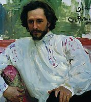 Portrait of the Author Leonid Andreev, 1904, repin