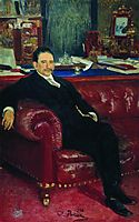 Portrait of B.A. Kaminka, 1908, repin