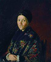 Portrait of A. Bocharova, artist-s aunts , 1859, repin