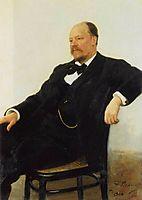 Portrait of the composer Anatoly Konstantinovich Lyadov, 1902, repin