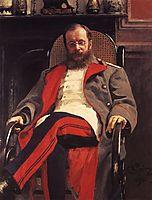 Portrait of Composer Cesar Antonovich Cui, 1890, repin