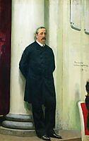Portrait of composer and chemist Aleksander Porfirievich Borodin, 1888, repin