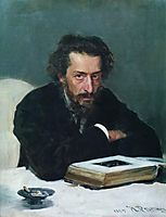 Portrait of composer and journalist Pavel Ivanovich Blaramberg, 1884, repin