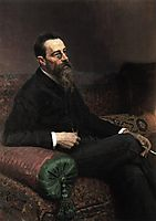 Portrait of the Composer Nikolay Rymsky-Korsakov, 1893, repin
