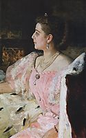Portrait of Countess Natalia Golovina, 1896, repin