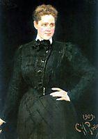 Portrait of countess Sophia Vladimirovna Panina, 1909, repin
