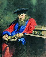Portrait of Dmitry Mendeleev, 1885, repin