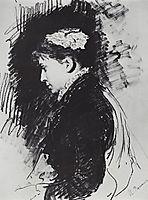 Portrait of E.D. Batasheva, 1891, repin