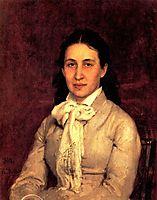 Portrait of E. Mamontova, 1879, repin
