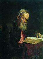 Portrait of Efim Repin, the Artist-s Father , 1879, repin