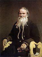 Portrait of Folk Story-teller V.P. Schegolenkov, 1879, repin
