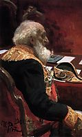 Portrait of the honorary member of the Academy of Sciences and Academy of Arts P.P.Semenov-Tian-Shanskiy, repin