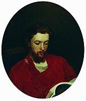 Portrait of Ivan Stepanovich Panov, 1867, repin